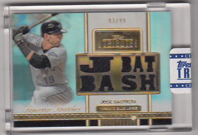 2012 Topps tribute SS-JB Jose Bautista 93 of 99 Not Graded