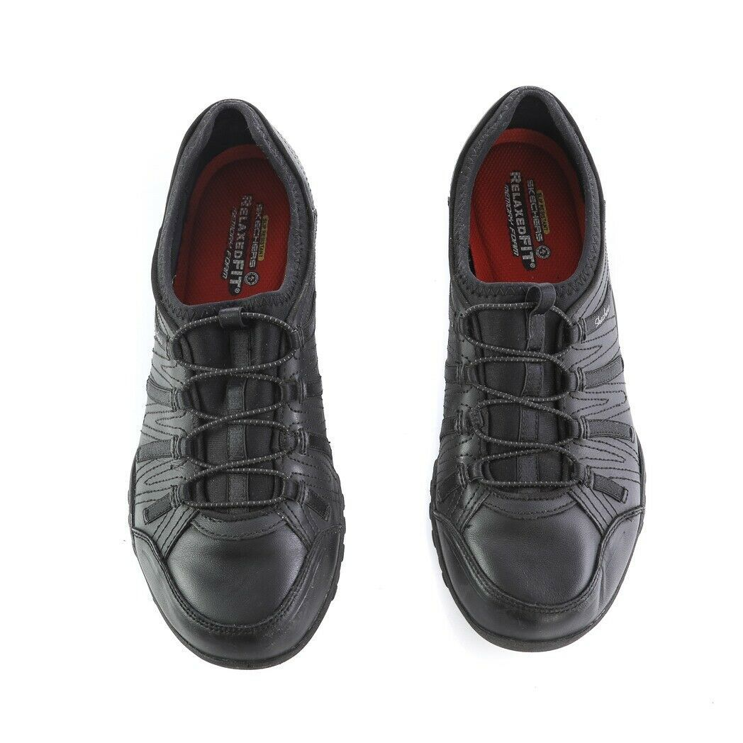 Skechers Work Black Relaxed Fit Fashion Sneakers Slip On Memory Foam Womens 9 image 2