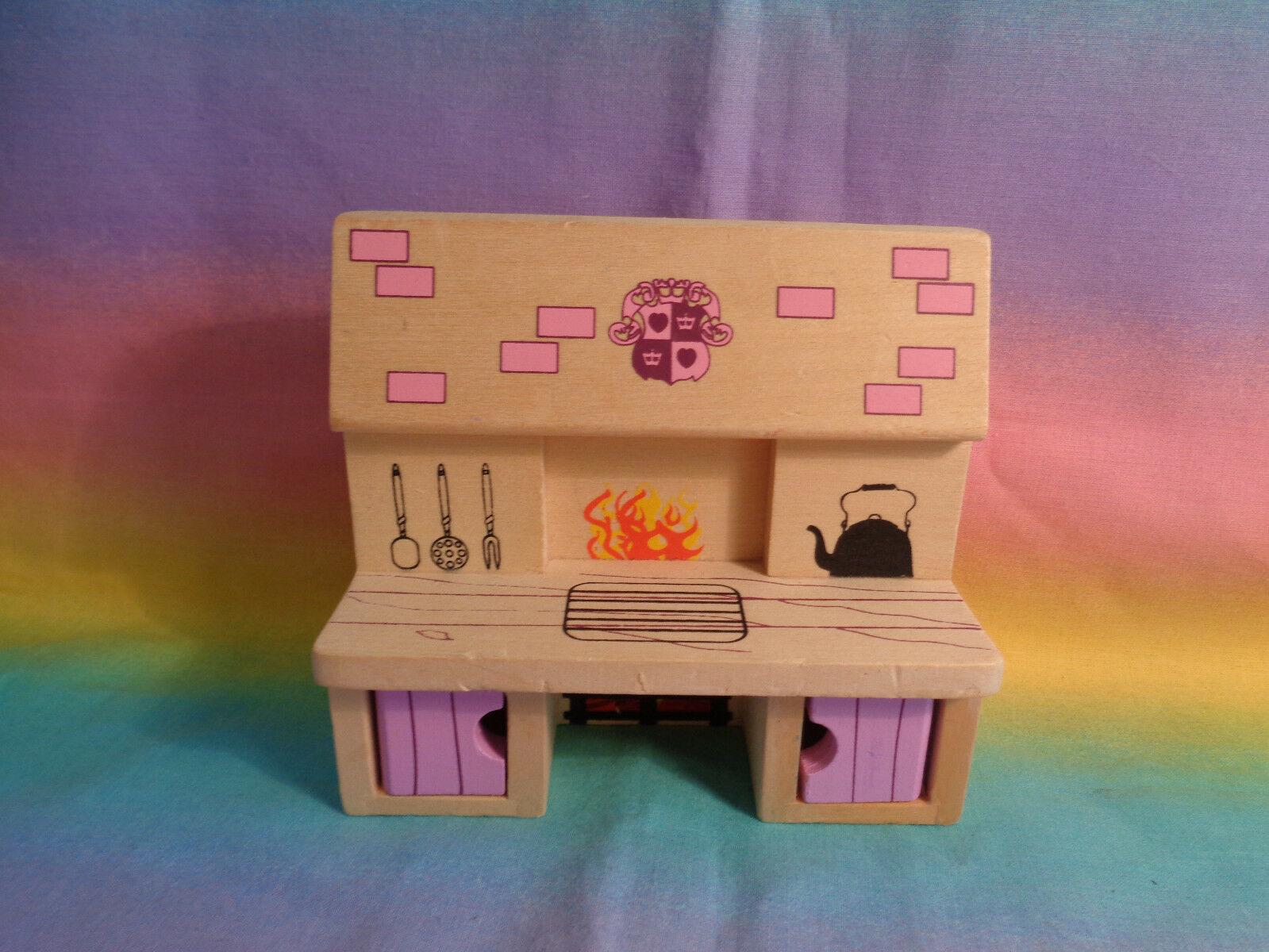 Melissa & Doug Princess Castle Wood Doll Furniture Replacement Kitchen Stove