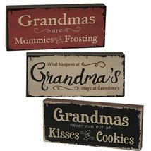Grandma's Kisses Sign 3 Asstd. - $32.89