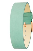 Moog Paris Green Nubuck Leather Bracelet for Women, Velvet Pattern, Pin ... - $46.65