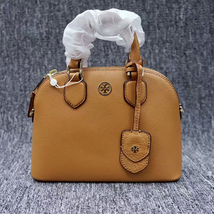 New Tory Burch Robinson Pebbled Leather Dome Satchel - $292.00
