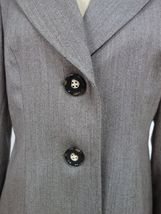 Talbots Womens Business Blazer Size 6 Brown Narrow Stripes 100% Wool Lined image 3