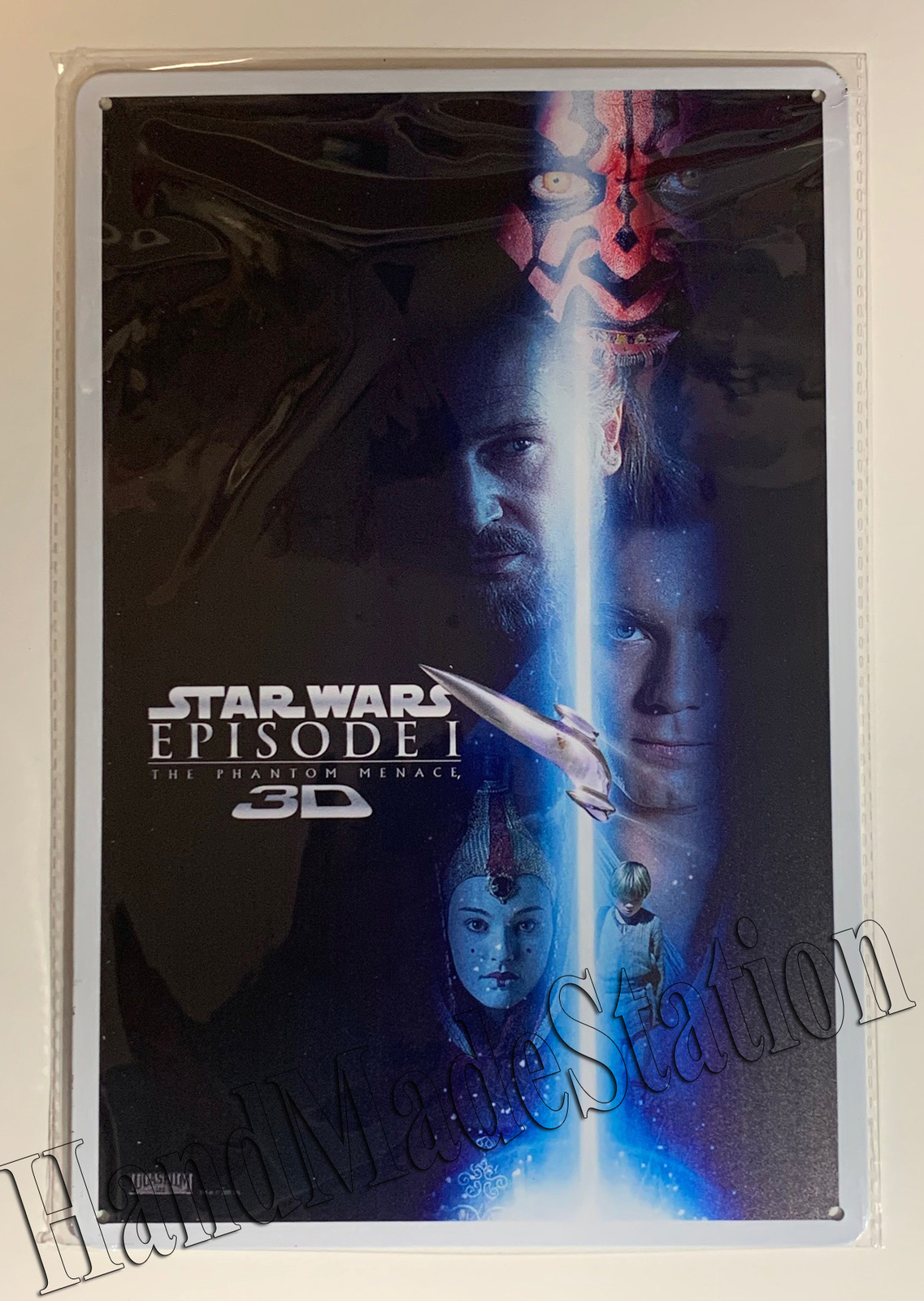 "Star Wars Episode I movie poster Wall Metal Sign plate Home decor 11.75"" x 7.8"""