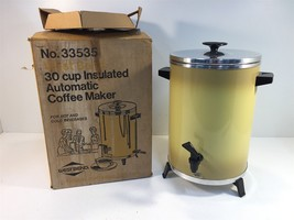 Vintage West Bend 30 Cup Insulated Automatic Coffee Maker No. 33535 Harv... - $24.99
