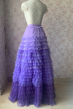 TIERED Tulle Skirt Wedding Tulle Outfit Women Plus Size Layered Long Tutu Skirt  image 9