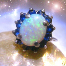 Haunted Ring Sorcerer Crystal Fire Make Everything Clear Secret Ooak Magick - $8,907.77