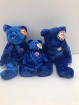 TY Beanie Babies Buddies BUDDY 1999 CLUBBY  Singapore Asia Pacific Blue ... - $14.85