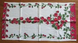Vintage Towel Sweet Red Strawberries Startex tag - $8.00