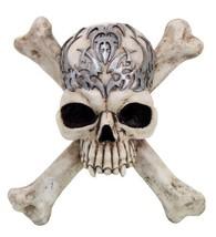 PTC Tribal Pattern Skull Cross and Bones Resin Statue Figurine - $38.61