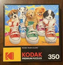 Kodak 350 Piece Puzzle Sneaky Pups in Large Shoes 350 Lg Pieces Lot of P... - $12.77