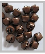 Lot of 25 ANTIQUE COPPER Finish Jingle BELLS 12mm -13mm Primitive / Stea... - $4.50