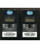 Pair Official Microsoft Xbox 360 Black Rechargeable Battery Pack Control... - $8.90