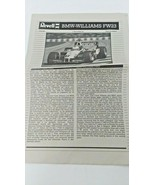Revell 07222 Williams F1 BMW FW 23 1/24 Model Instructions and Stickers - $15.85