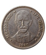 Dominican 1 Peso, 26.8g Copper/Nickel Coin,1980, KM#53, Mint, God Father... - €4,23 EUR
