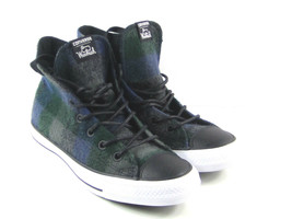 Converse x Woolrich Chuck Taylor All Star Women's Blue,Green, Plaid Wool... - $76.71