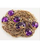 "ESTATE VINTAGE Jewelry RARE / HTF 54"" TRIFARI PURPLE WATERFALL CHAIN  - $125.00"