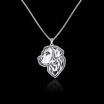 Daisies Pendant Necklace dog puppy handmade Labrador Retriever necklace ... - $5.69