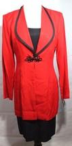Vintage John Roberts women's dress one piece red black long sleeve size 8 - $28.70