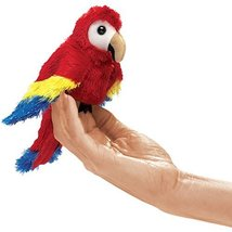 Folkmanis Mini Scarlet Macaw Finger Puppet - $14.50