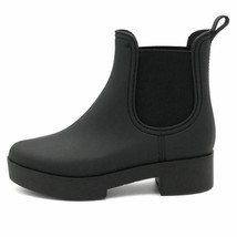 Jeffrey Campbell Womens Ankle Boots Black Almond Toe Pull Ons 8 New - $45.11