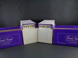 Trivial Pursuit Family Card Game 2 Replacement Boxes of Cards TV Edition  - $8.90