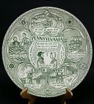Vintage Pennsylvania Dutch Country Plate Souvenir travel amish Deitsch farm - $10.74