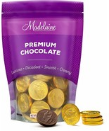 Madelaine Premium Solid Milk Chocolate Gold Coins 1/2LB NEW EXPEDITED SH... - $19.79