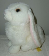 Lop Eared Rabbit Miyoni Stuffed Animal Aurora Plush Bunny White never hu... - $12.82