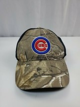 Chicago Cubs MLB Camo Truck Hat Snap Back Size M/L - $14.25
