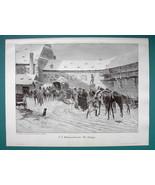 NAPOLEONIC WAR Winter January 1814 Bavarian Troops Vosges - VICTORIAN Er... - $12.15