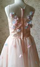 Flower Girl Dress, Sleeveless High Waist Girl Dress Princess Dress - Blush Pink  image 9