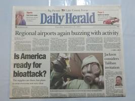 Daily Herald September 27 2001 Terrorism 9/11 America ready for bioattac... - $39.99