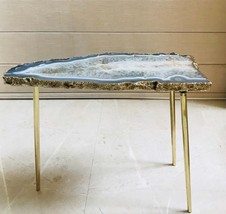 Large Grey Agate Single Piece Quartz/Gemstone/Quartz/Side Coffee Table - $534.65