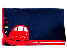 Gymboree Vintage Boys Cars Printed Reversible Soft Cotton Navy Red Trim ... - $29.95