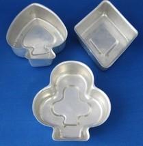 1950s 3 aluminum jello molds cardsuits a thumb200