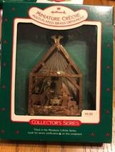 Hallmark Miniature Creche Multi- Plated Brass Ornament Collector 's Series - $16.47