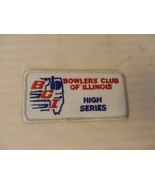 Bowlers Club of Illinois Men's High Series Patch from the 90s Silver Border - $7.43
