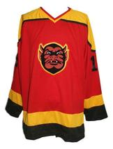 Custom Name # St Paul Vulcans Defunct Retro Hockey Jersey New Red Any Size image 4