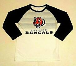 Cincinnati Bengals Long Sleeve Shirt S/CH/P 8 Made By Nfl Team Apparel - $7.00
