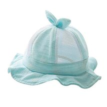 Green Lovely Cap Foldable Beach Hat Nice Gift Baby Hat Cotton Sunhat Summer Hat