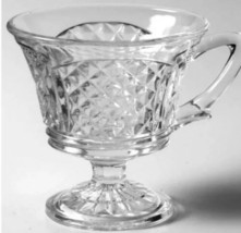 1960's Vintage Colony Baroque Glass Punch Cup MID CENTURY Footed Pedestal Mug - $9.50