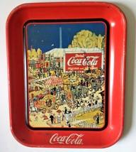 Coca Cola Tray Vintage Repo X4 Distress Rustic Decor Art Deco 1800s Women - $35.90