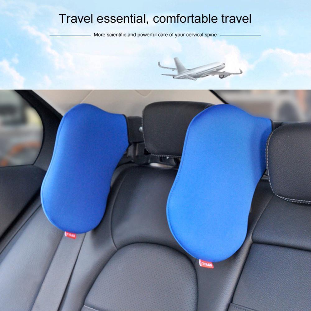 Car Pillow Neck Seat Headrest Cushion Memory Rest Foam Head Support Pad Us Leath