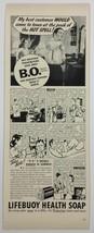 Lifebuoy Soap BO '40s PRINT AD comic strip body odor salesman advertisem... - $9.74