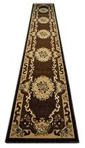 Kingdom Traditional Long Chocolate Runner Rug 32 Inch X 15 Feet 6 Inch D... - $122.71