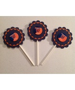 Nfl Chicago Bears Cupcake Topper Birthday Anniversary Party Blue Handmad... - $12.00