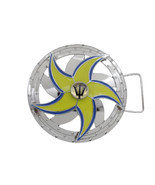 New Men Women Silver Metal Buckle Round Spinning Arrow Star Poseidon God... - $22.52
