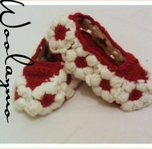 Hand Knitted Baby Boots Booties Handmade New Gift idea White Ballerinas - $242,28 MXN