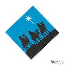 Nativity Silhouette Beverage Napkins - $2.61